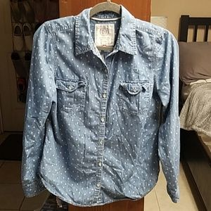 Chambray Shirt with Hearts